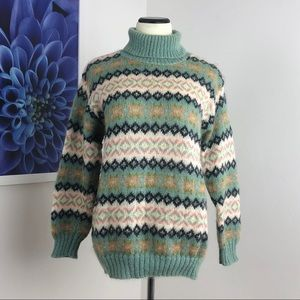 United Colors Fair Isle Turtleneck Sweater